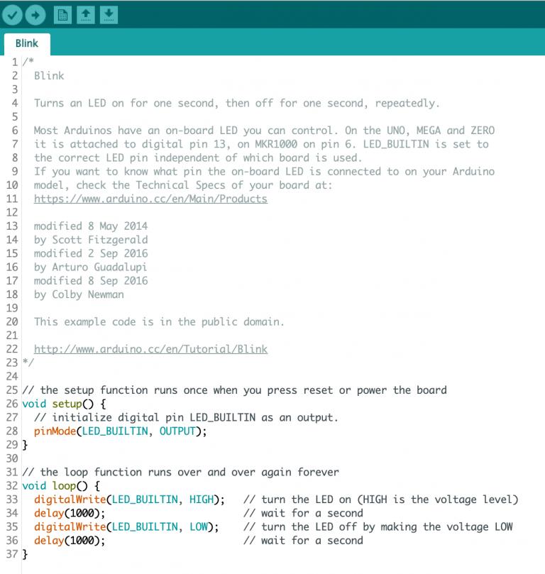 Arduino IDE Screen Capture