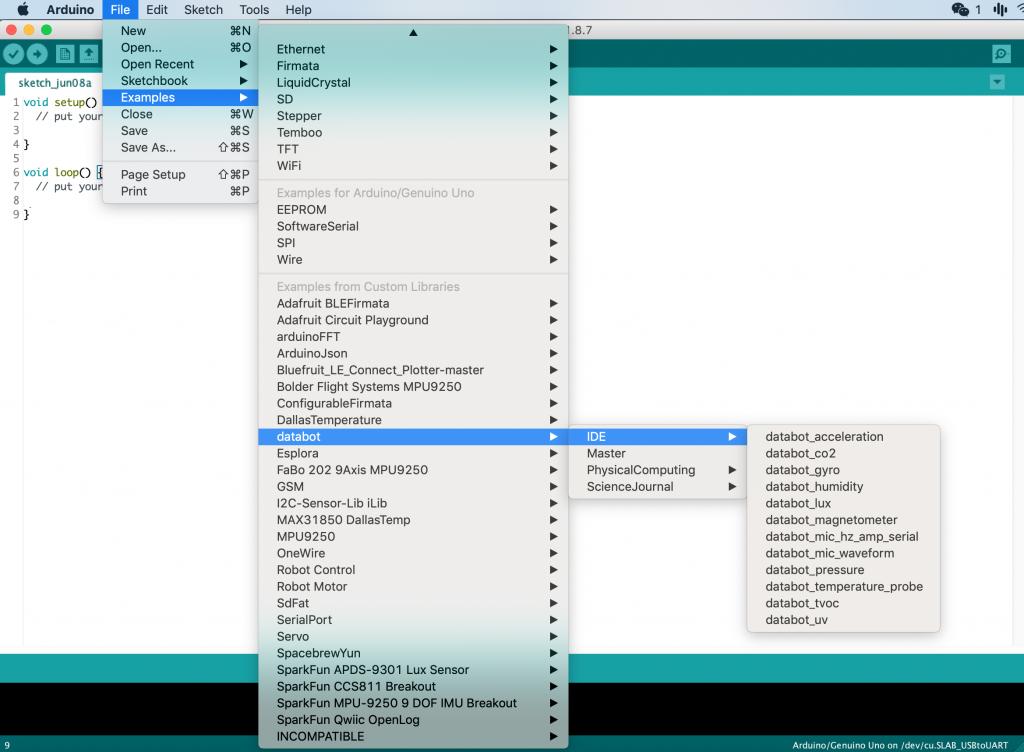 databot™ Basic Training - Arduino IDE - databot