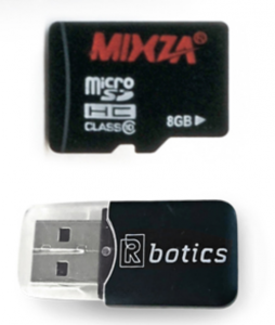 Micro SD card and reader
